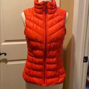 Goose Down Bright Red Vest